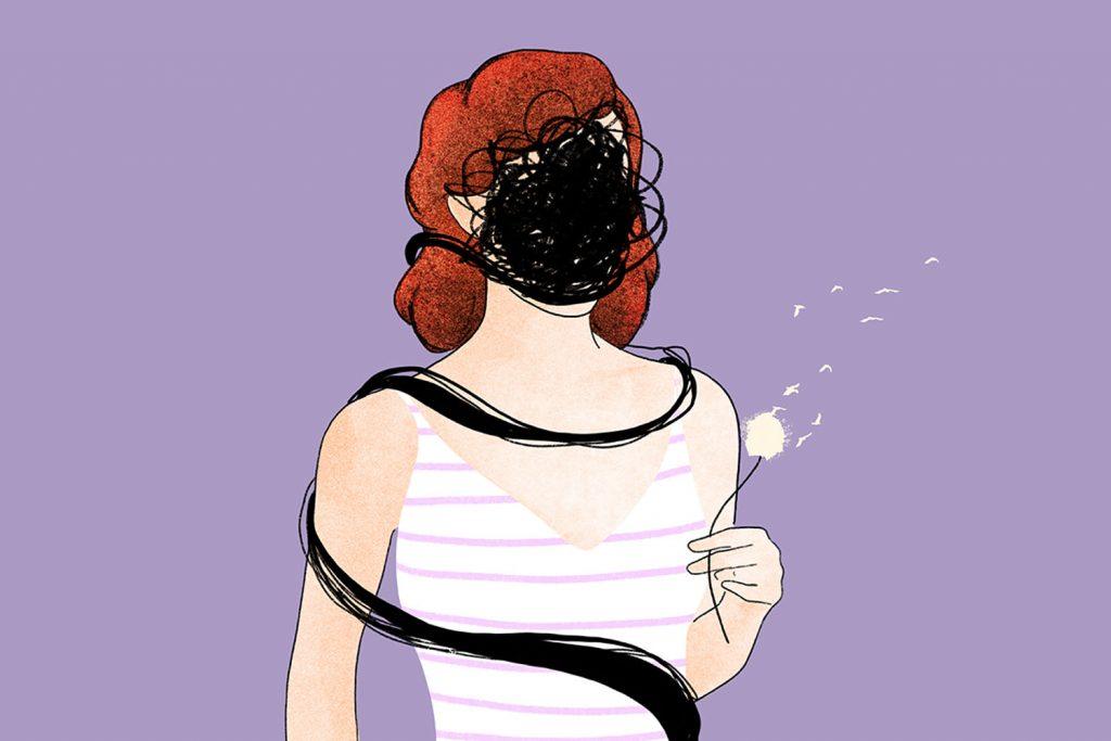 donna con ansia